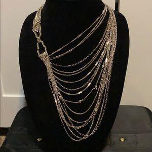 C+I Multi-Strand Chain Bib Statement Necklace